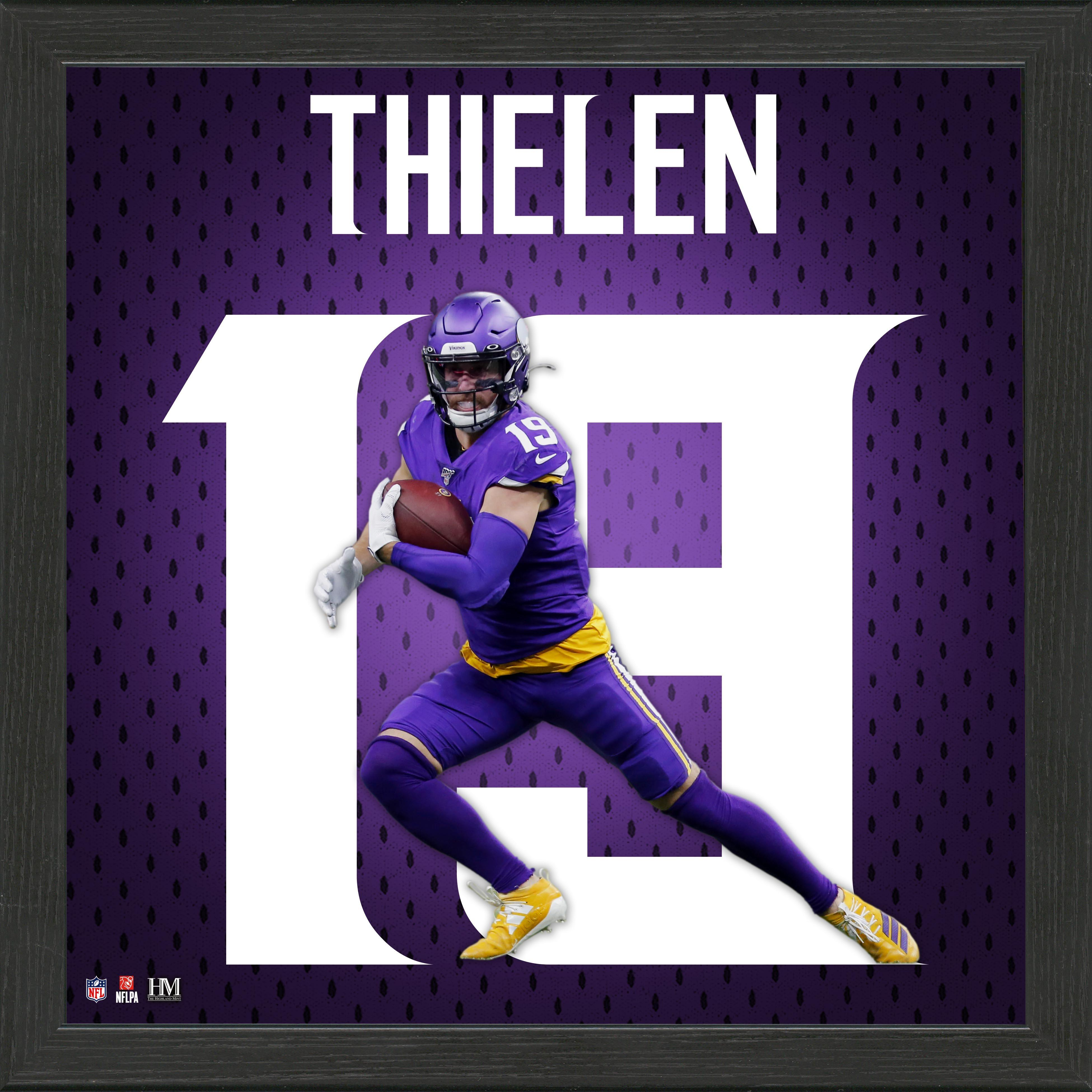 Minnesota Vikings Adam Thielen Jersey Number Framed Photo | GameStop