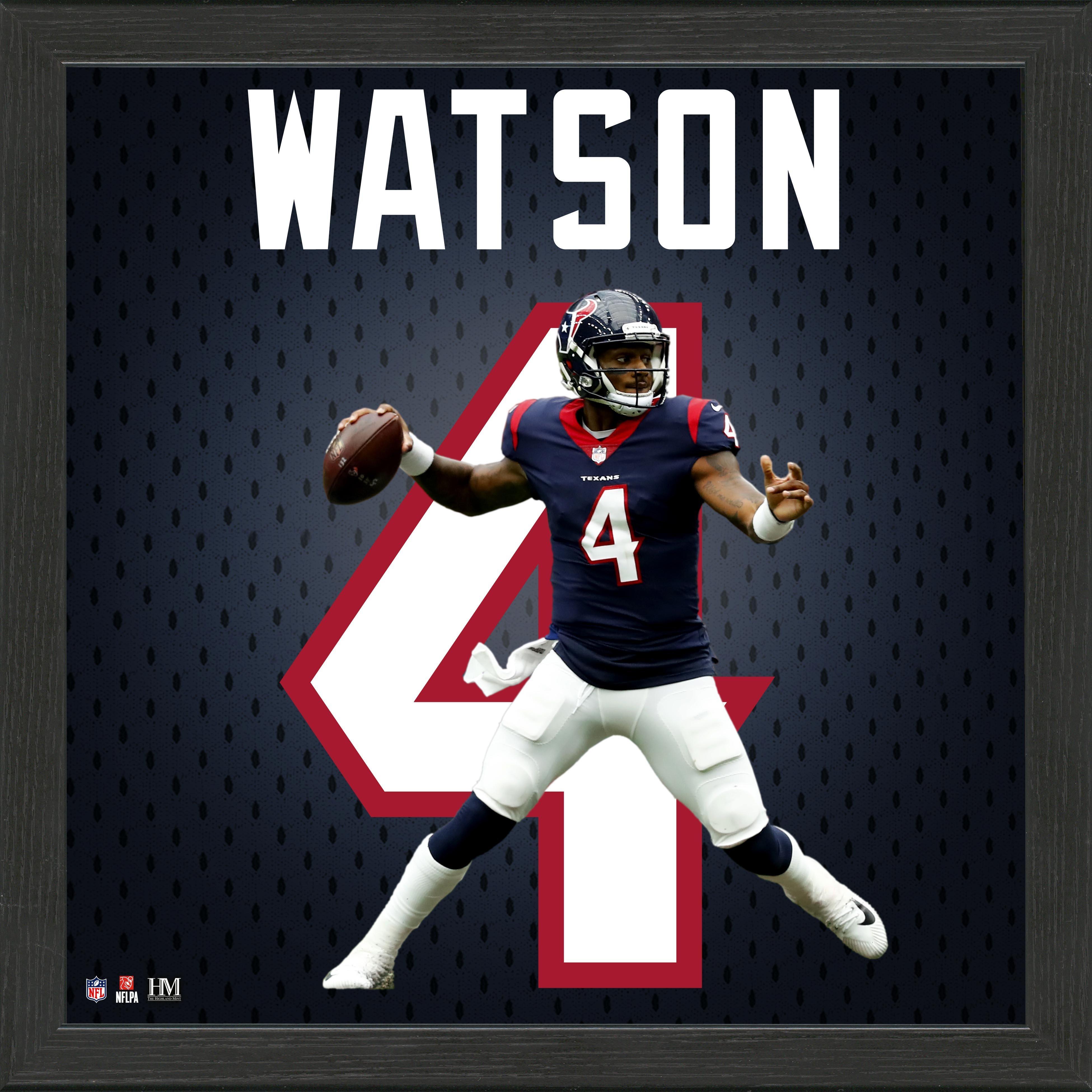 Houston Texans Deshaun Watson Jersey Number Framed Photo | GameStop