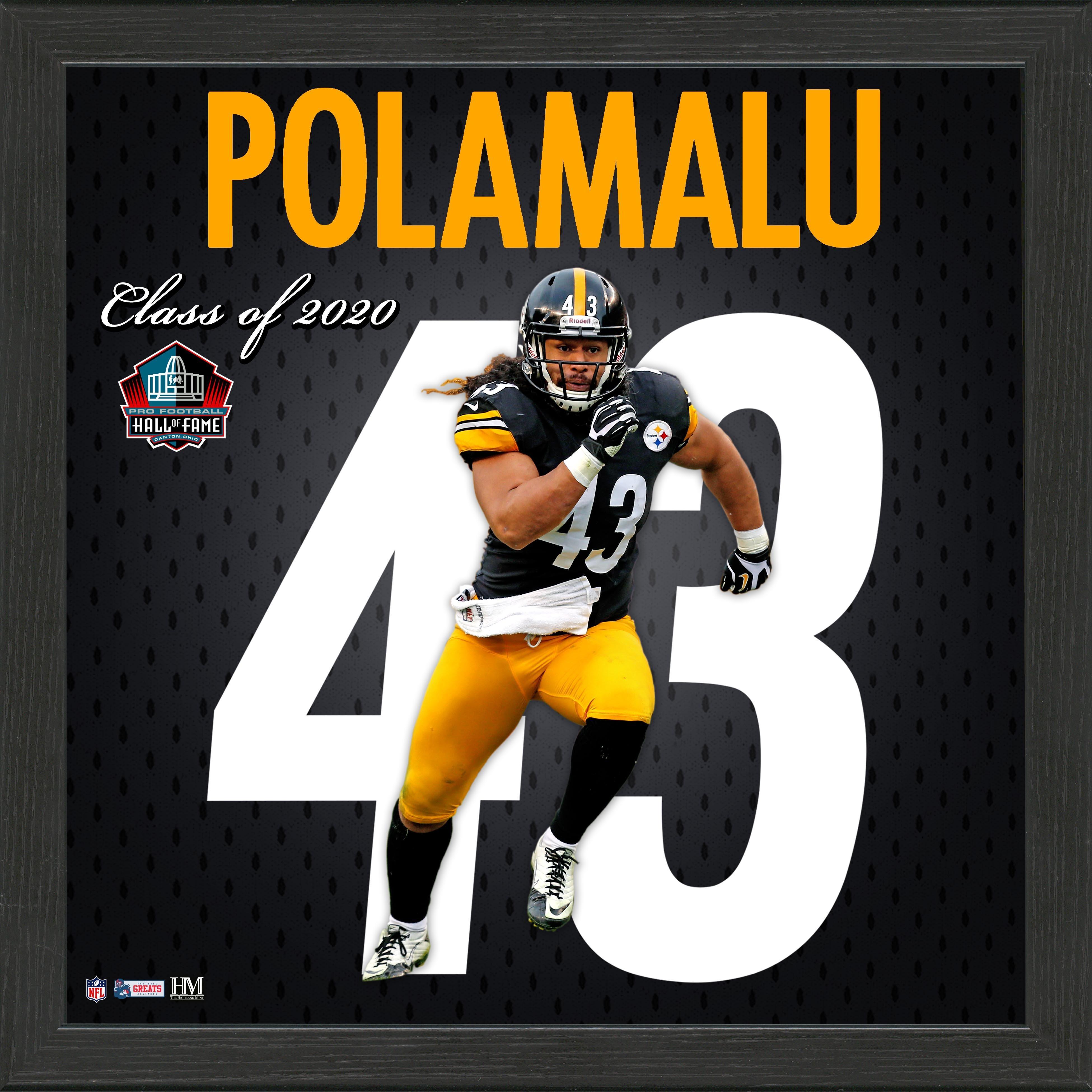 Pittsburgh Steelers Troy Polamalu Jersey Number Framed Photo | GameStop