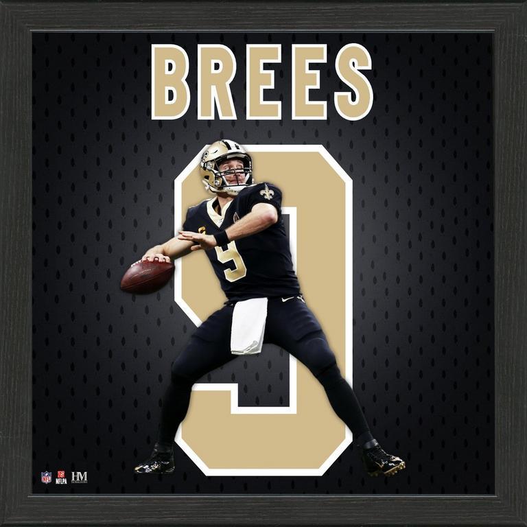 New Orleans Saints Drew Brees Jersey Number Framed Photo | GameStop