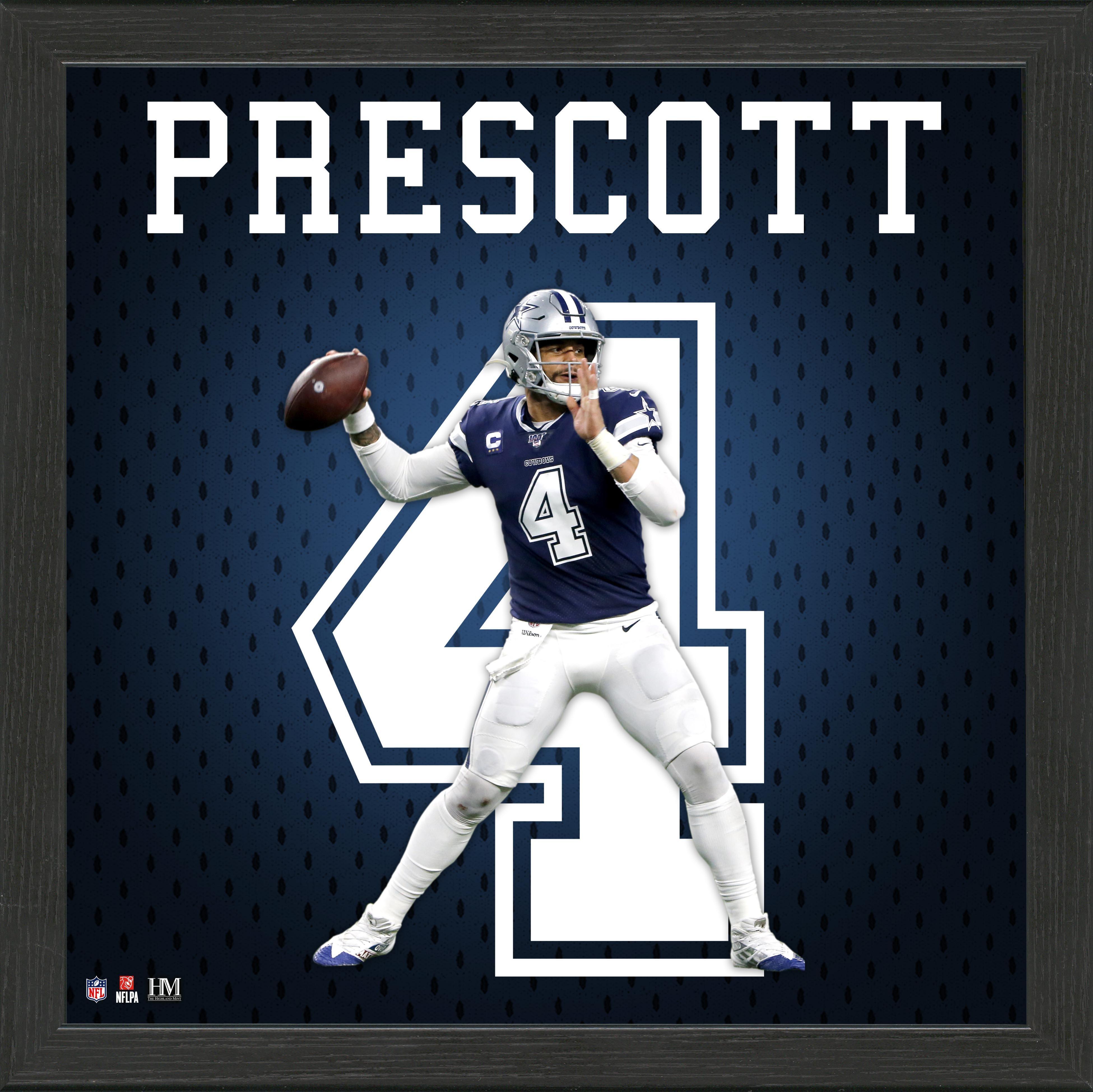 Dallas Cowboys Dak Prescott Jersey Number Framed Photo | GameStop