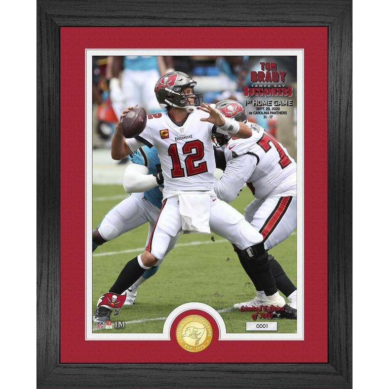 Tampa Bay Buccaneers Tom Brady 1st Home Game Bronze Coin Photo Mint
