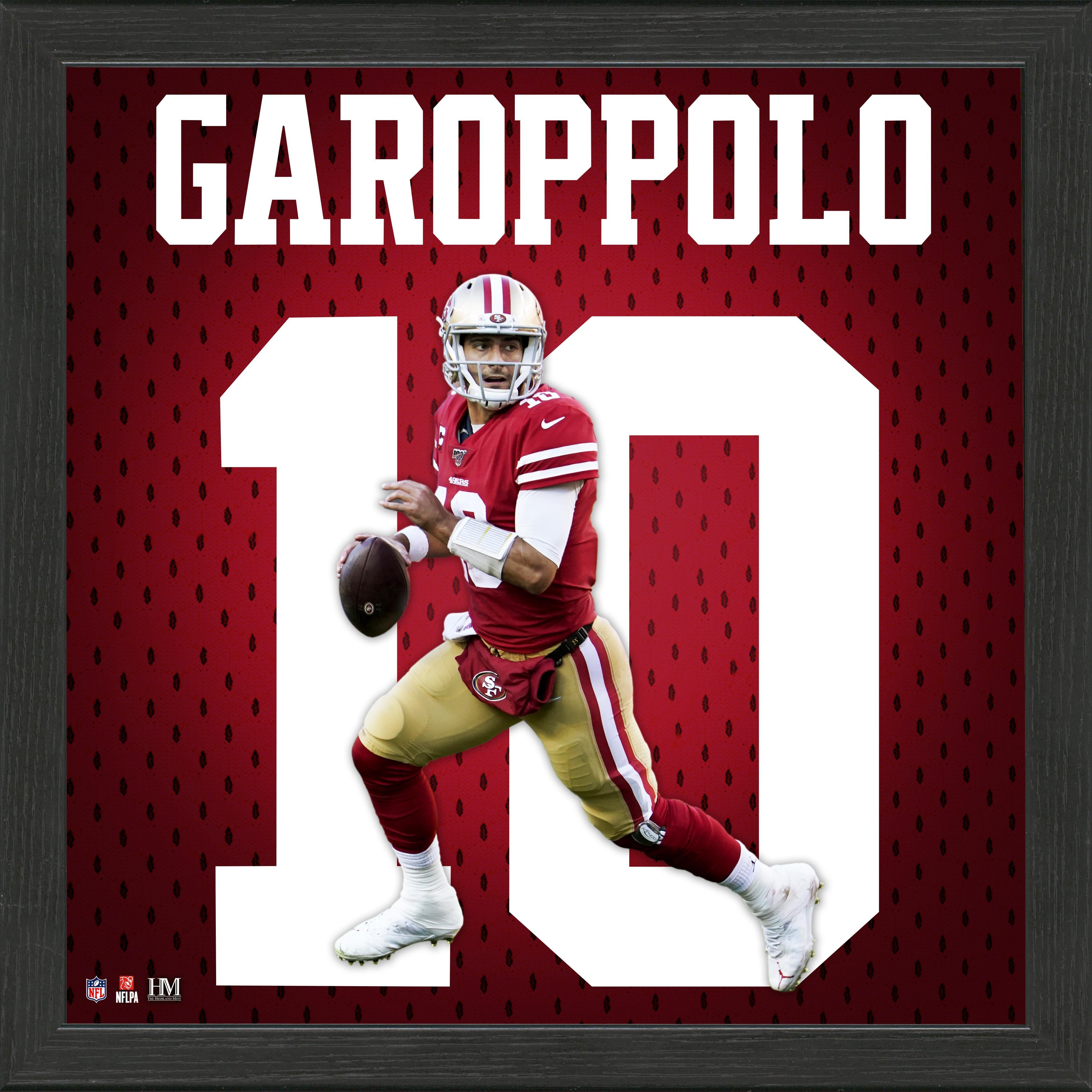 San Francisco 49ers Jimmy Garoppolo Jersey Number Framed Photo | GameStop