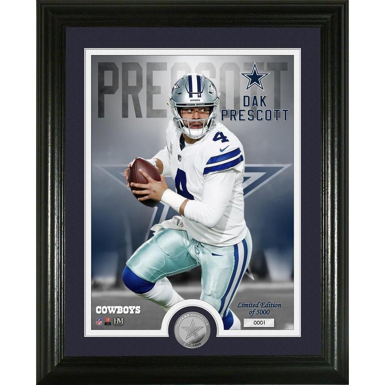 Dallas Cowboys Dak Prescott Silver Coin Photo Mint