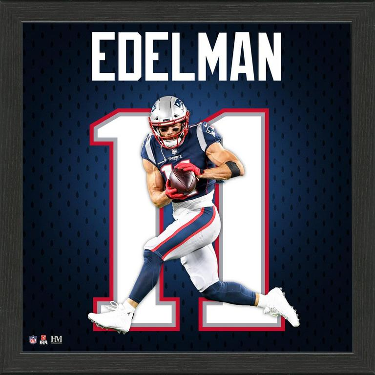 New England Patriots Julian Edelman Jersey Number Framed Photo