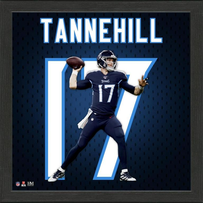Tennessee Titans Ryan Tannehill Jersey Number Framed Photo