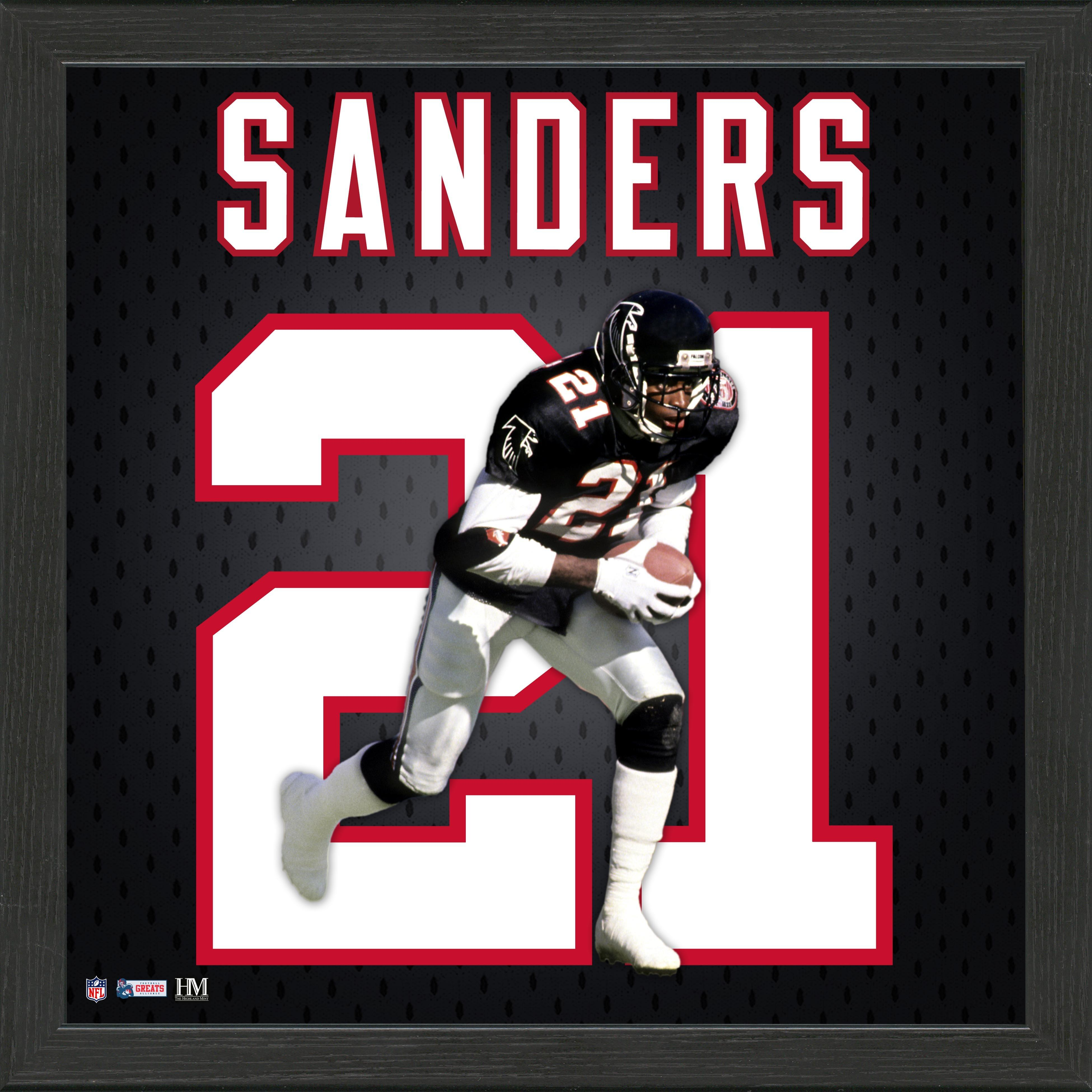 Atlanta Falcons Deion Sanders Jersey Number Framed Photo | GameStop