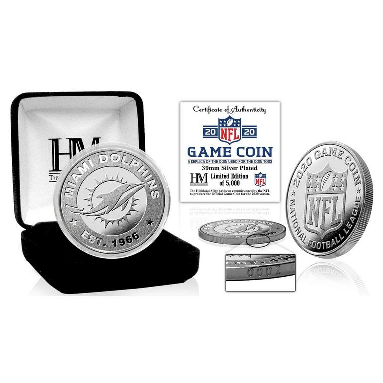NFL Miami Dolphins Game Coin Replica 2020 Silver Mint