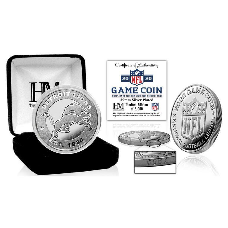 NFL Detroit Lions Game Coin Replica 2020 Silver Mint
