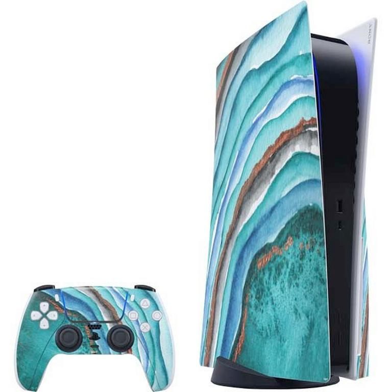 Geode Turquoise Watercolor Skin Bundle for PlayStation 5