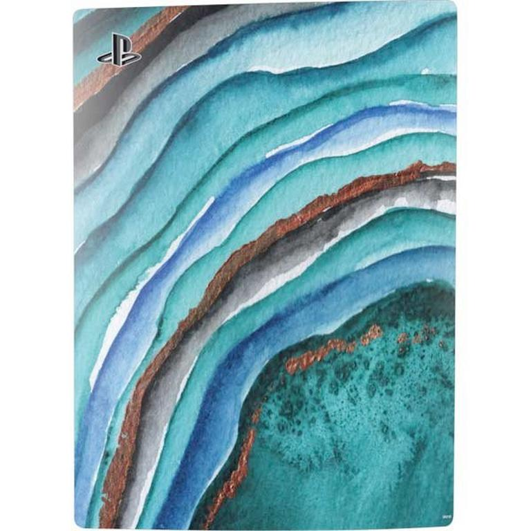 Geode Turquoise Watercolor Skin Bundle for PlayStation 5 Digital Edition