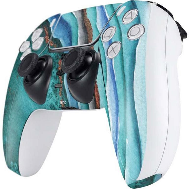 Geode Turquoise Watercolor Controller Skin for PlayStation 5