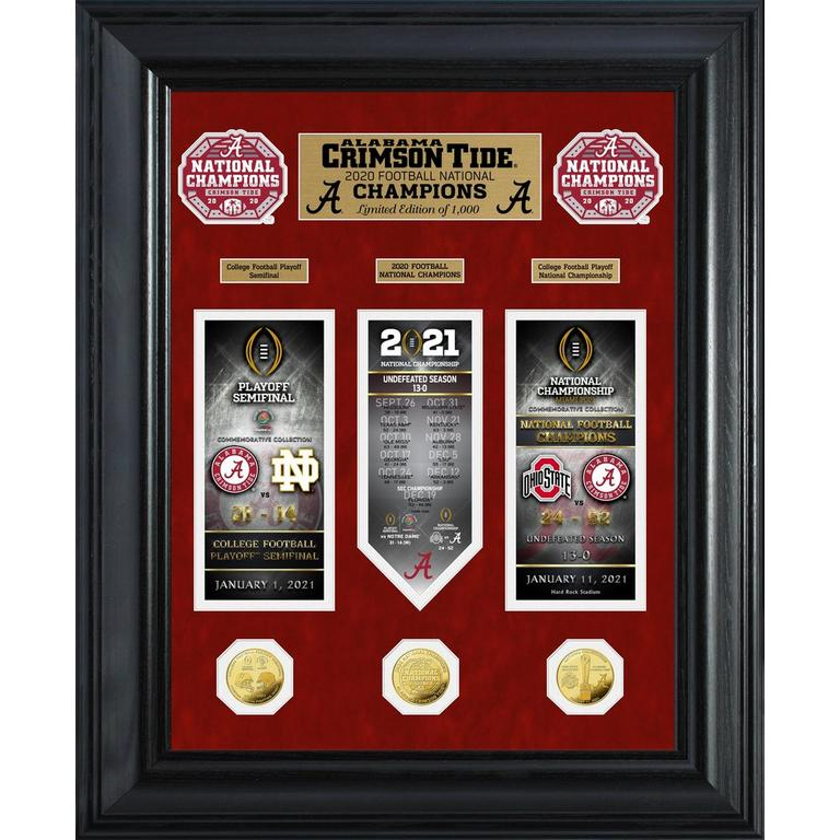 NCAA Alabama Crimson Tide 2020/21 Football National Champions Road to the Championship Deluxe Photo