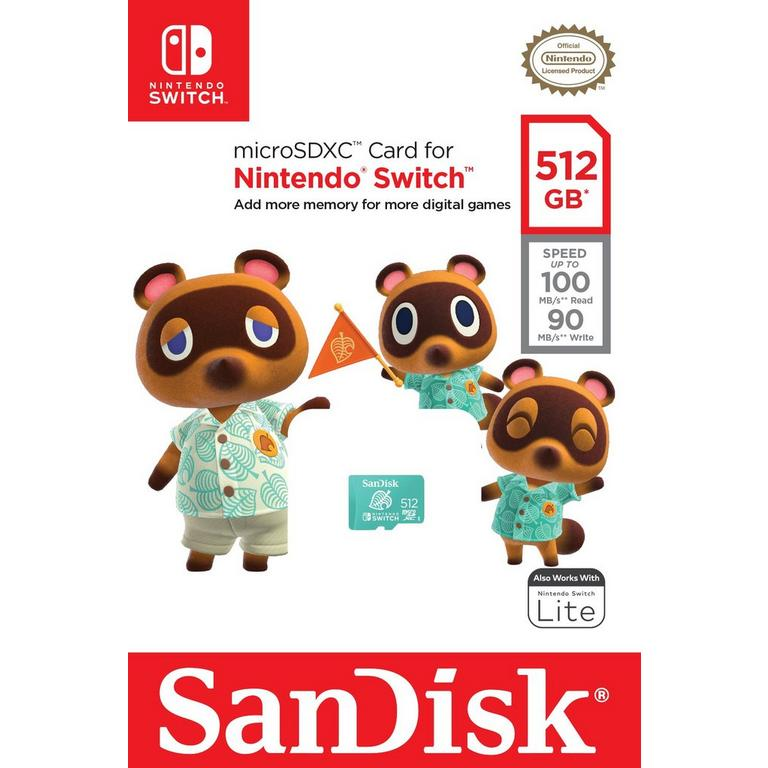 microSD UHS-I 512GB for Nintendo Switch