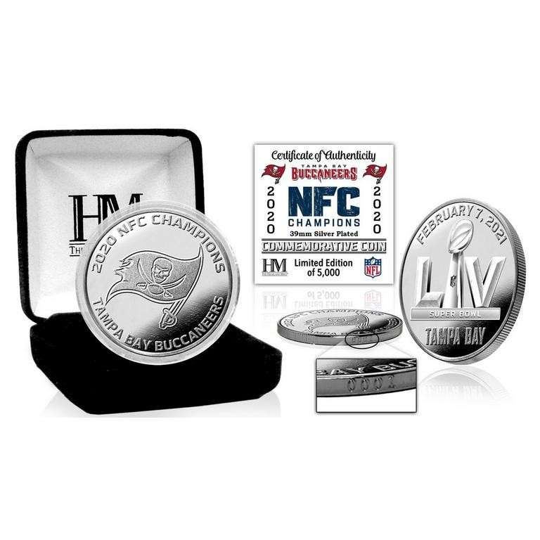 NFL Tampa Bay Buccaneers 2020 National Football Conference Champions Silver Coin Mint