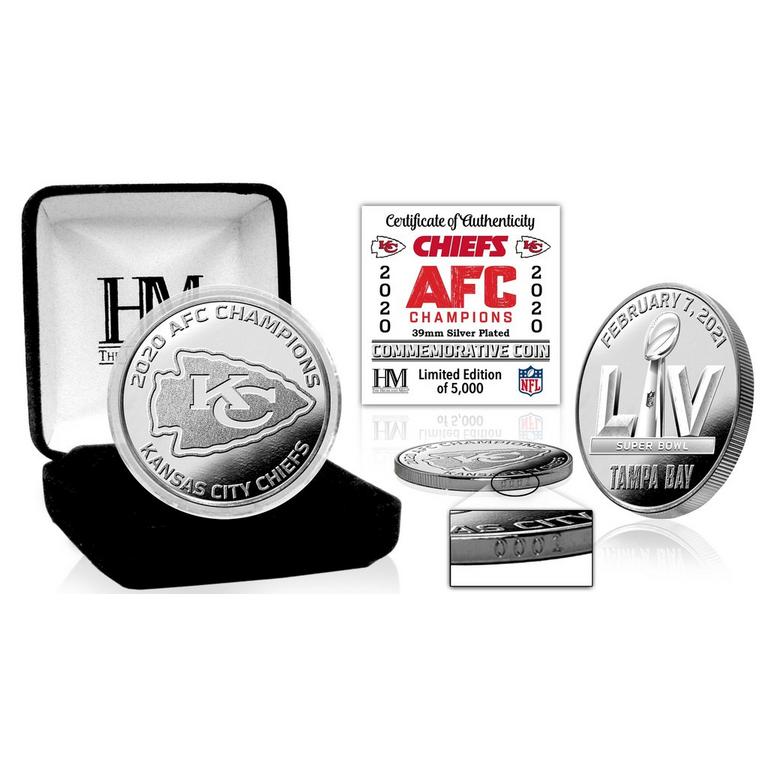 NFL Kansas City Chiefs 2020 American Football Conference Champions Silver Coin Mint