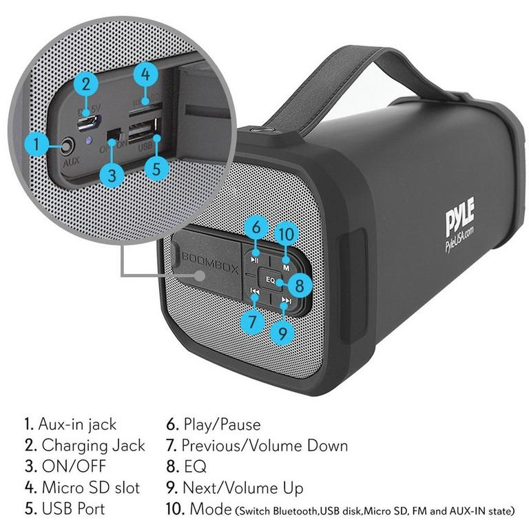 Portable Bluetooth Tube Speaker