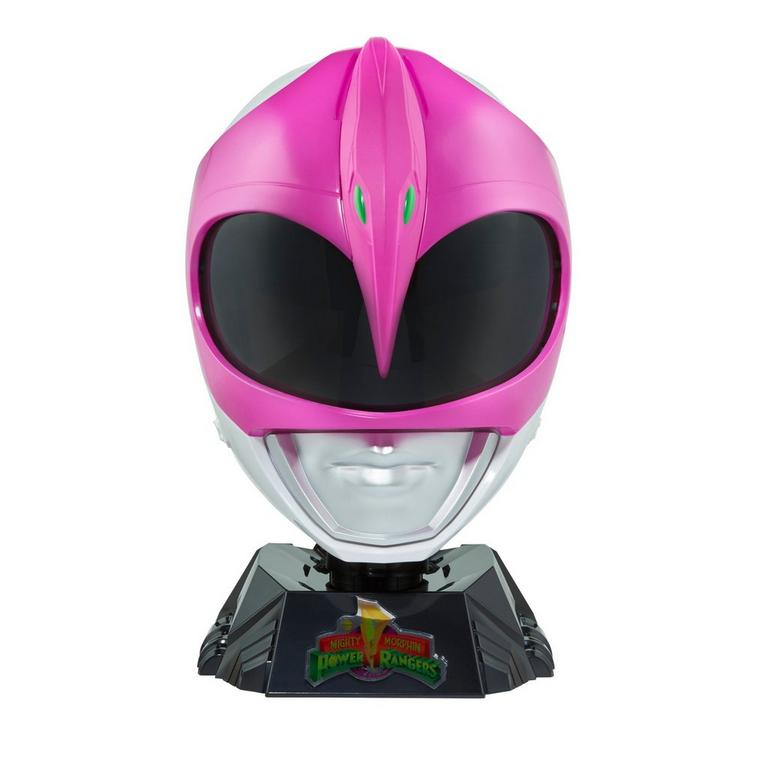Mighty Morphin Power Rangers Pink Ranger Replica Helmet with Display Stand Only at GameStop