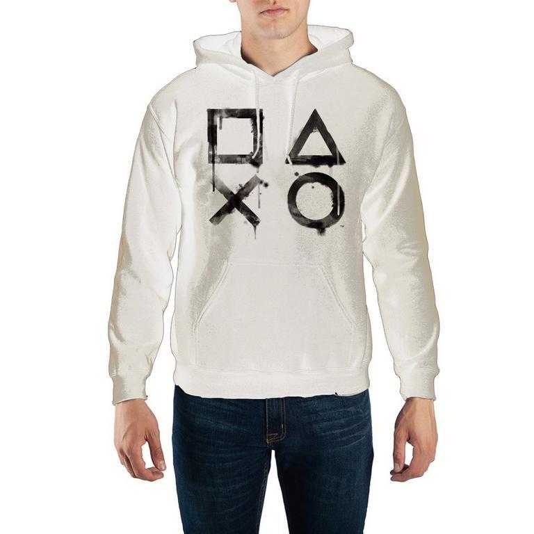 PlayStation Dripping Button Symbols Hooded Sweatshirt