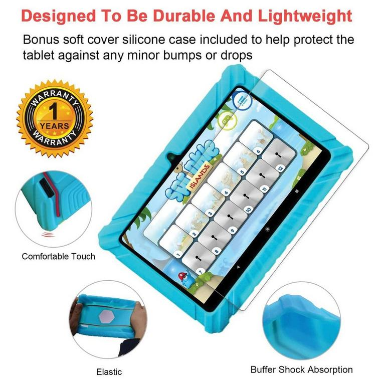 Kids 16 GB Light Blue Tablet 7 in