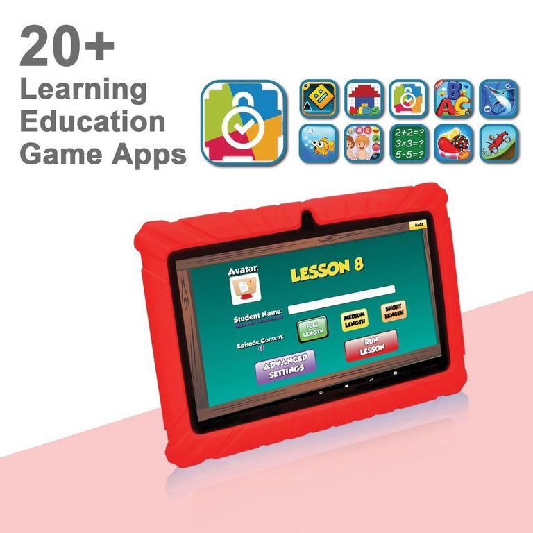 Kids 16 GB Red Tablet 7 in