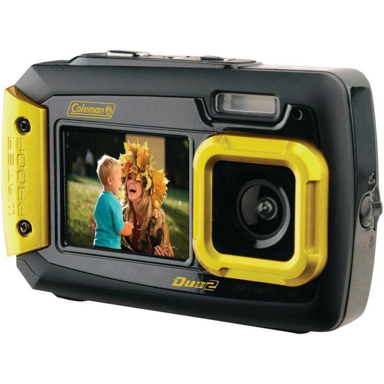 20.0 Megapixel Duo 2 Dual Screen Waterproof Yellow Digital Camera