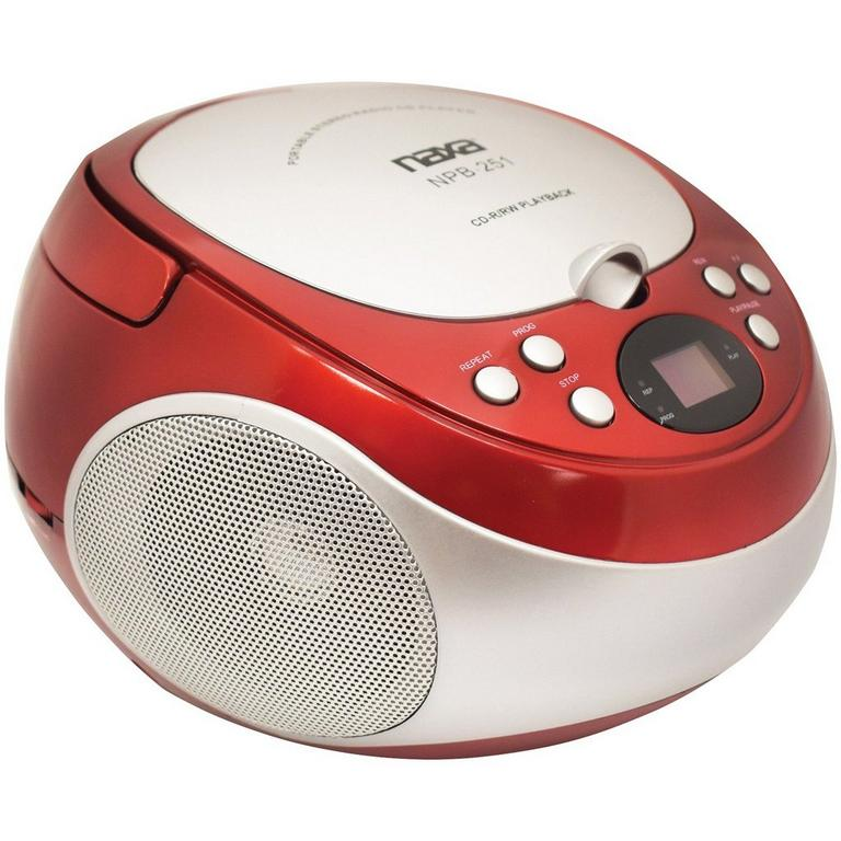 Red Portable CD Player with AM and FM Radio