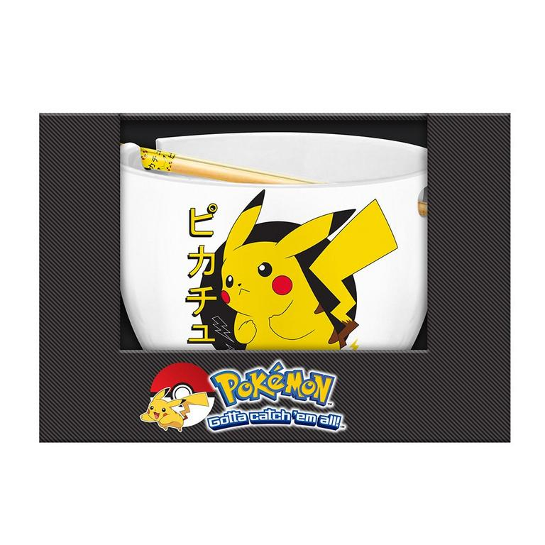 Pokemon Pikachu Ramen Bowl with Chopsticks