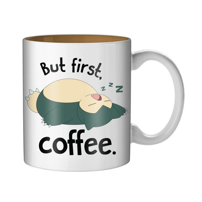 Pokemon Snorlax But First Coffee Mug