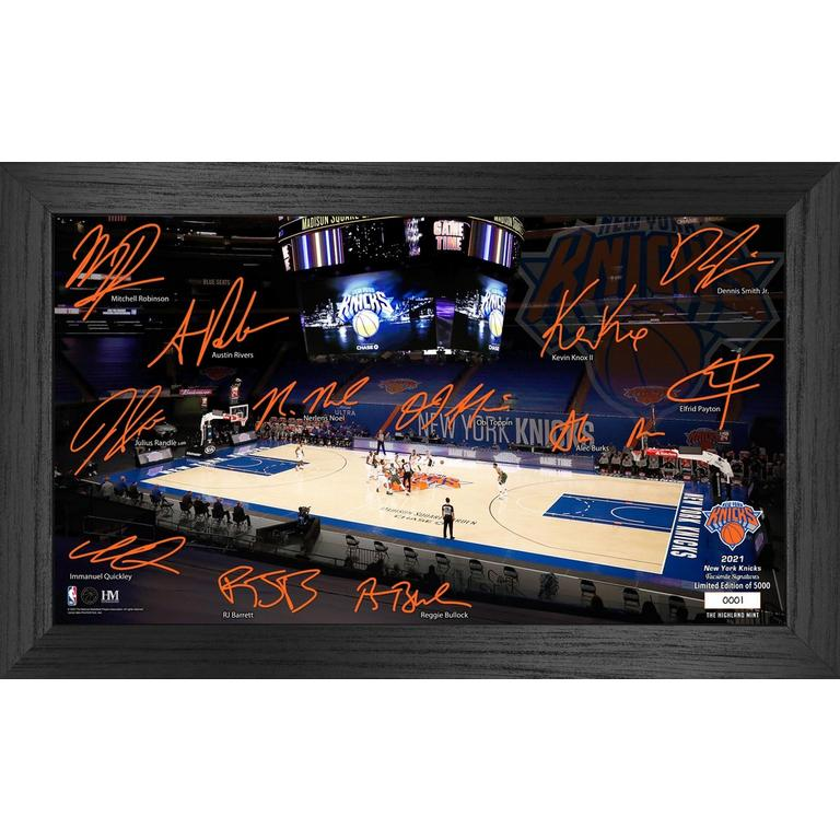 NBA New York Knicks 2021 Court Signature Photograph