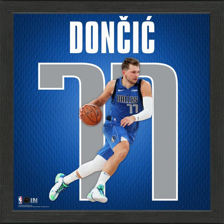 NBA Dallas Mavericks Luka Doncic Impact Jersey Photograph
