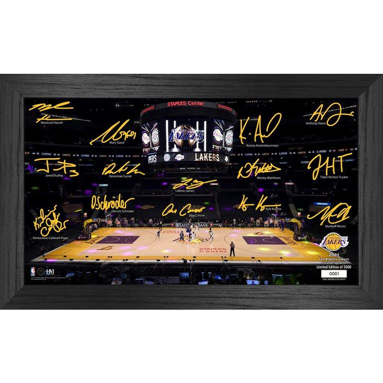 NBA Los Angeles Lakers 2021 Court Signature Photograph