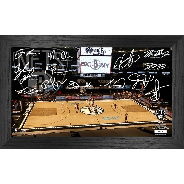 NBA Brooklyn Nets 2021 Court Signature Photograph