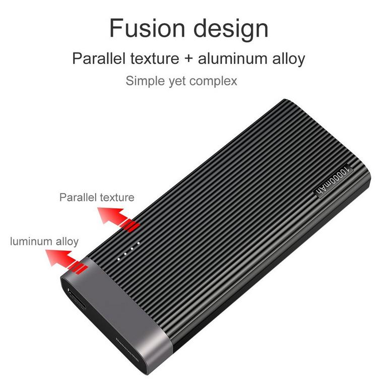 Parallel USB and USB-C Type White Quick Charge 3.0 Power Bank 20000 mAh
