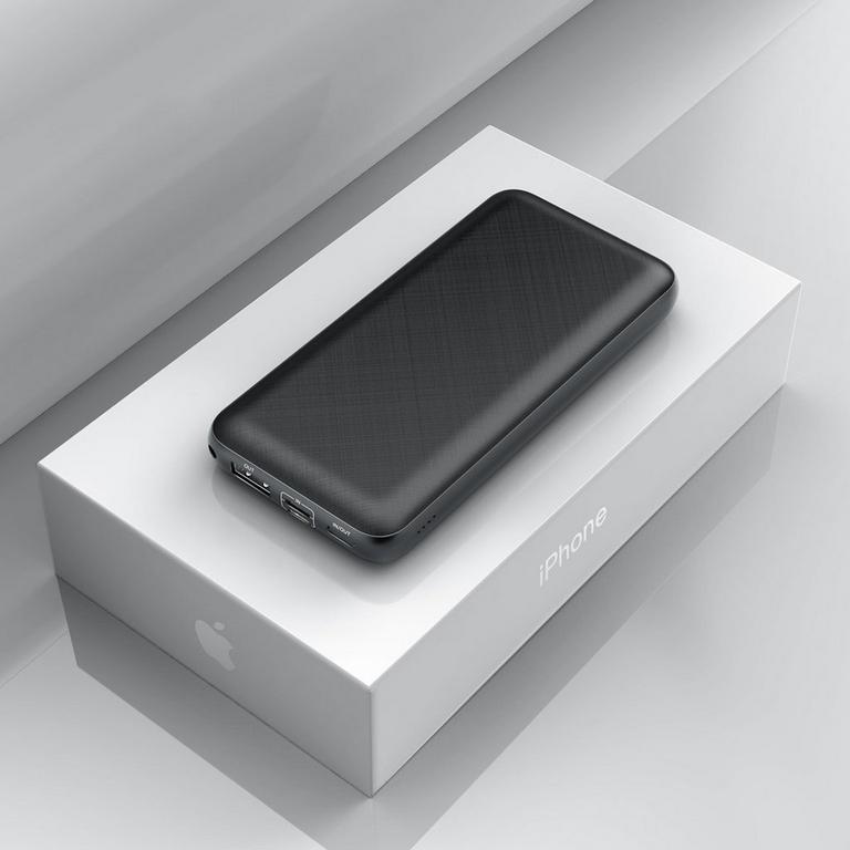 Mini Black Quick Charge Power Bank 20000 mAh