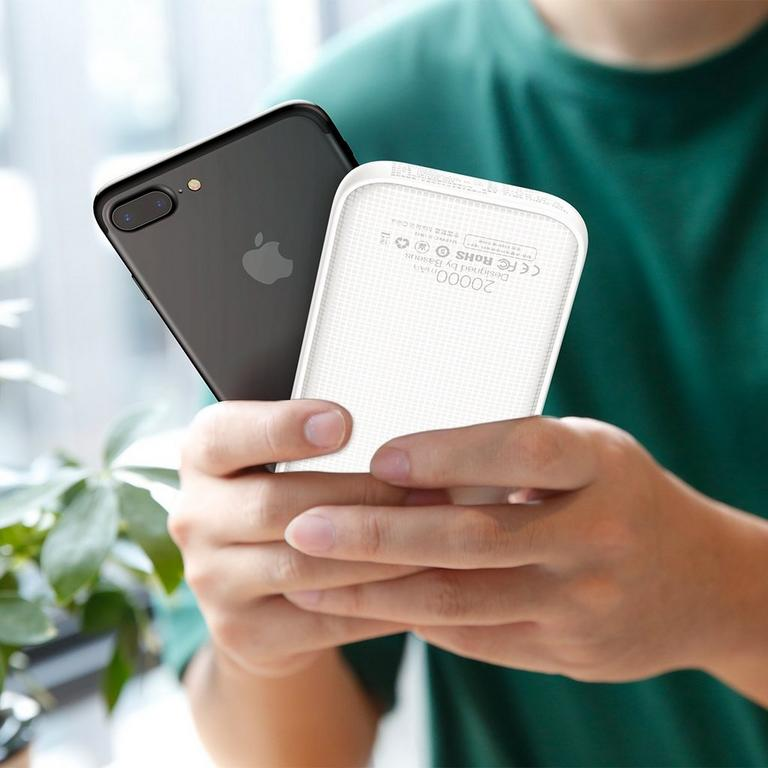 Powerful White Quick Charge Power Bank 20000 mAh