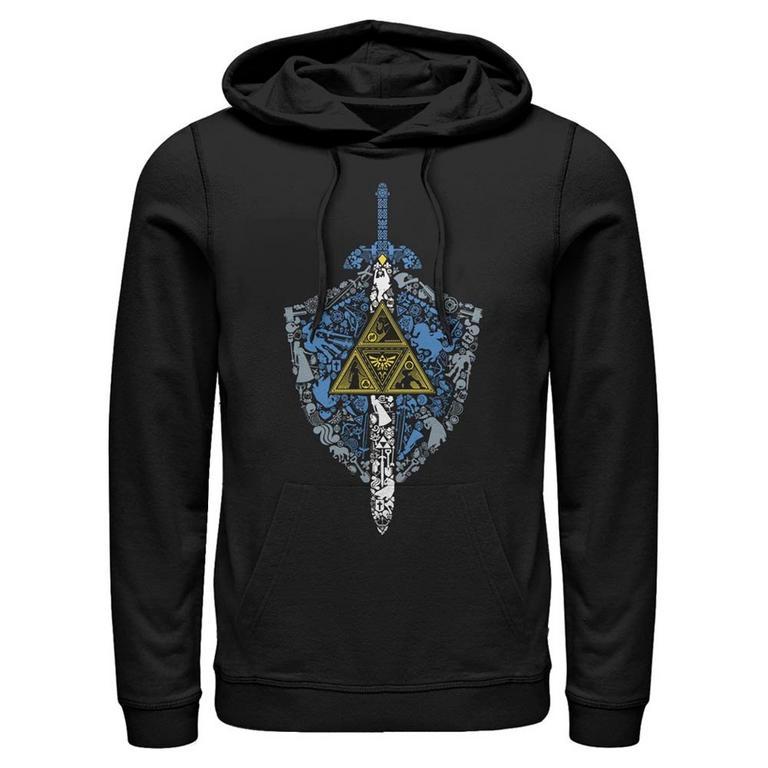 The Legend of Zelda Shield Icons Hooded Sweatshirt