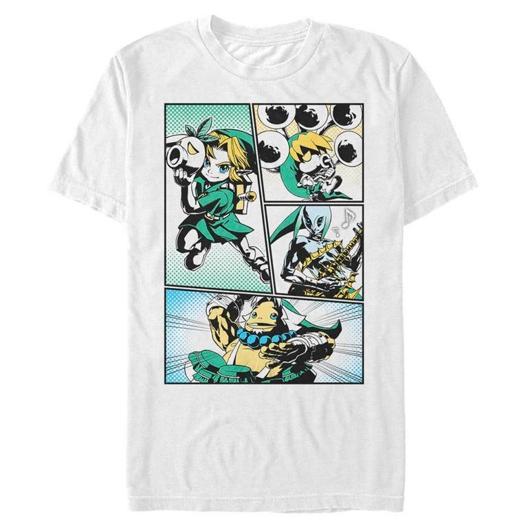The Legend of Zelda Majora's Mask Link Manga Style T-Shirt
