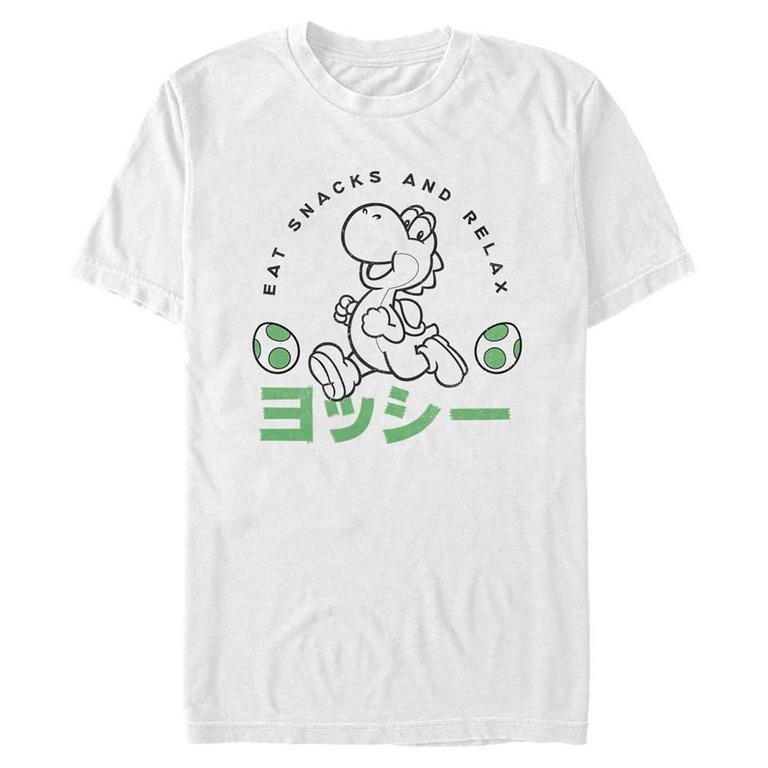Super Mario Yoshi Eat Snacks and Relax T-Shirt