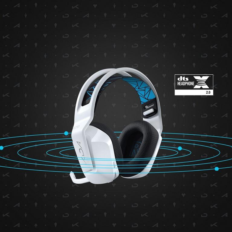 League of Legends K/DA G733 LIGHTSPEED Wireless RGB White Gaming Headset