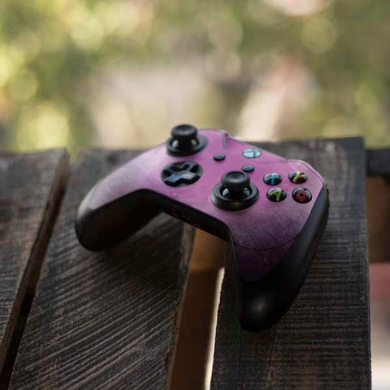 Purple Space Marble Controller Skin for Xbox One Elite