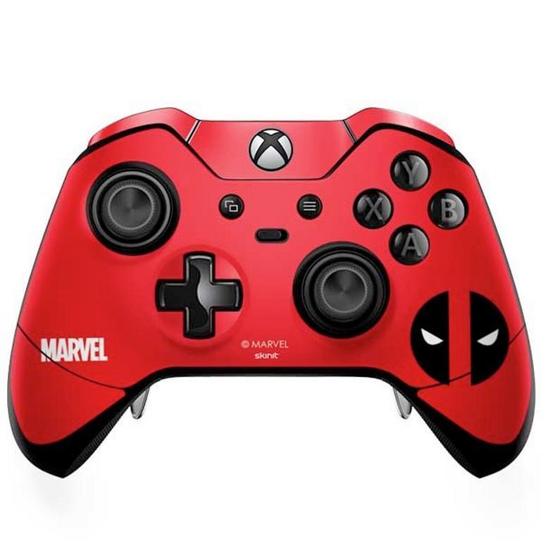 Deadpool Red Logo Controller Skin for Xbox One Elite