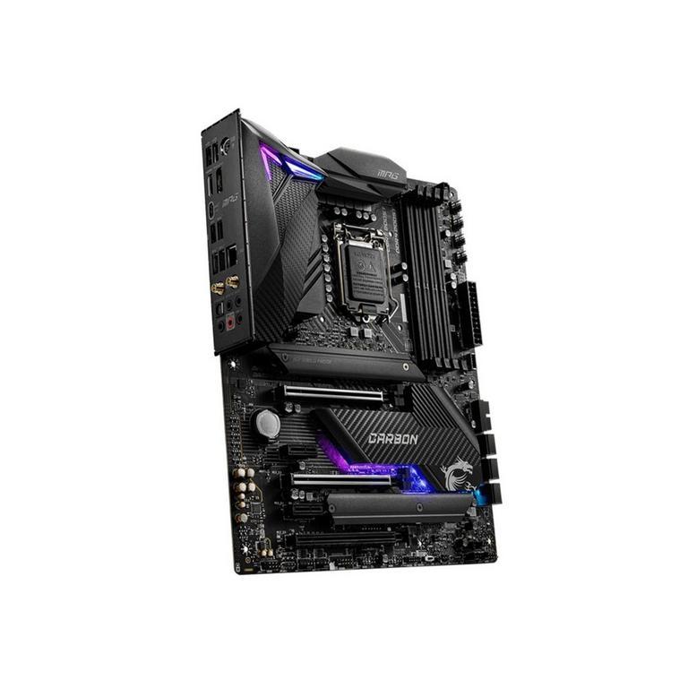 MPG Z490 Carbon EK X RGB Gaming Motherboard with Custom Liquid Cooling