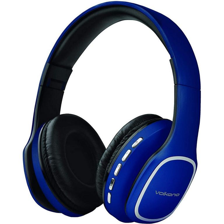Phonic Series Bluetooth Full Size Blue Headphones