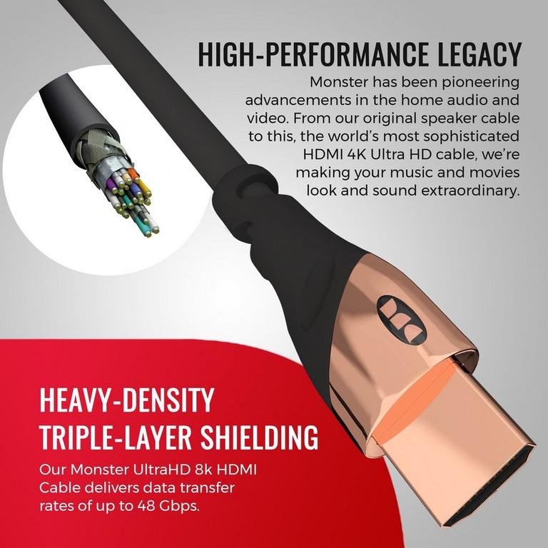 Ultra HD 4K Gold HDMI Cable 12 ft