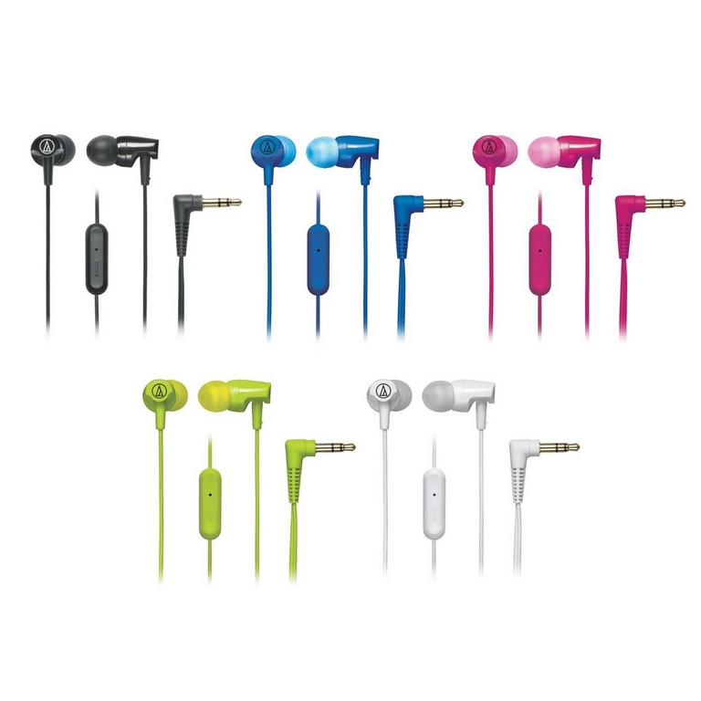 ATH-CLR100iS SonicFuel In-ear Headphones with In-line Mic and Control