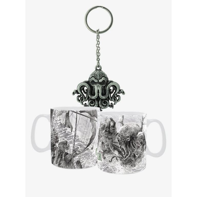 Cthulhu Mug and Keychain Bundle
