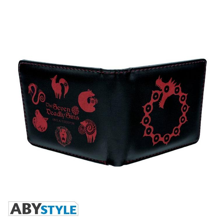 The Seven Deadly Sins Dragon Sin of Wrath Wallet and Keychain Gift Set