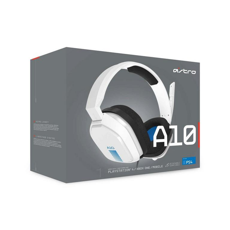 A10 White Wired Gaming Headset for PlayStation 4