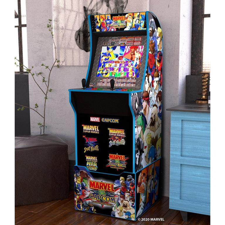 Marvel vs. Capcom Clash of Super Heroes Arcade Cabinet with Riser and Stool